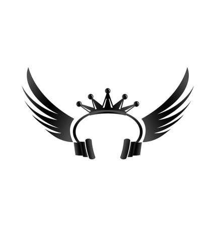 auriculares dj: DJ King Vectores