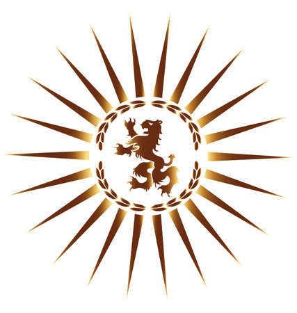 Heraldische leeuw Stock Illustratie