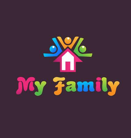 fiesta familiar: Se alquila casa Vectores