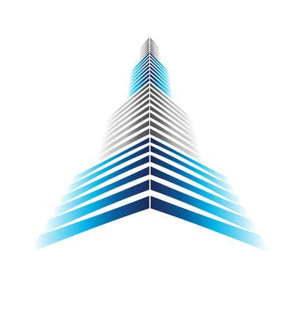 Rascacielos Icono Ilustración de vector