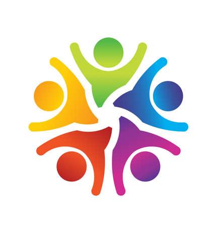 personas ayudando: Optimista Trabajo en equipo