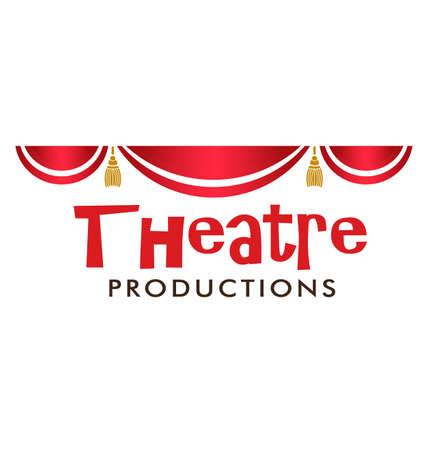 telon de teatro: Teatro Telón de detalles en rojo y oro