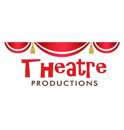 theatrical performance: Theater Curtain in red and gold details