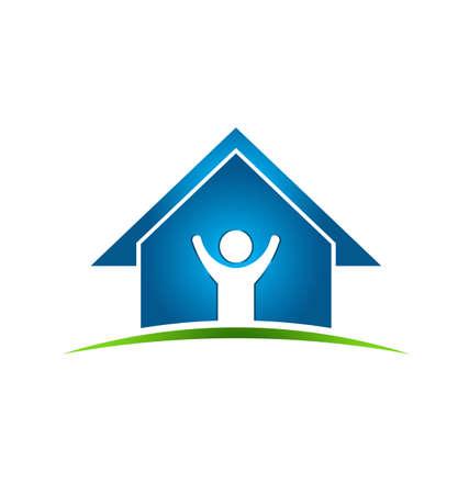 viviendas: Hombre feliz en casa