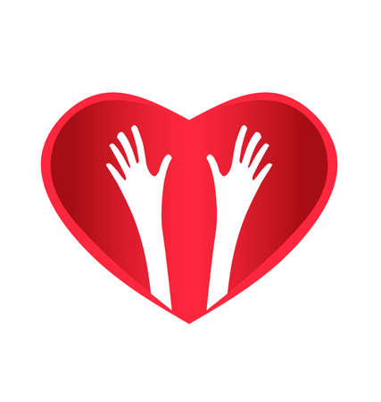 Helping Hands Heart Vector