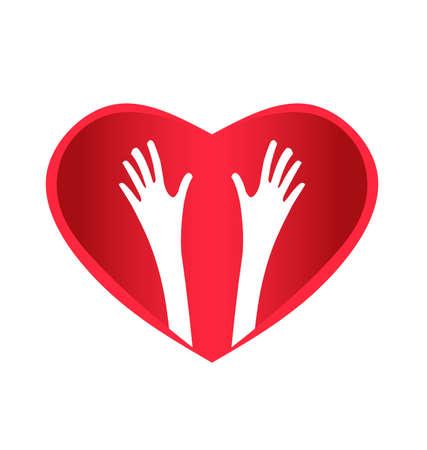 Helping Hands Heart Stock Vector - 16227447