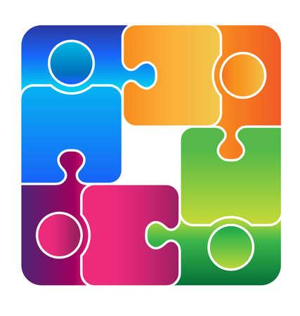 Equipo conectado Ilustración de vector