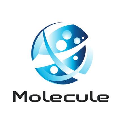Molecule logo Vettoriali