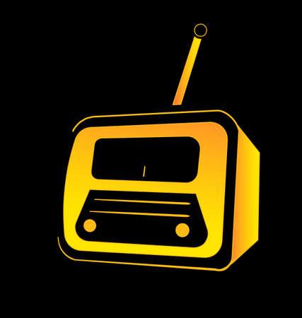 speaker box: Vintage radio