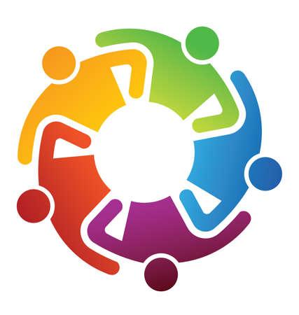 solidaridad: Trabajo en equipo cuota Vectores