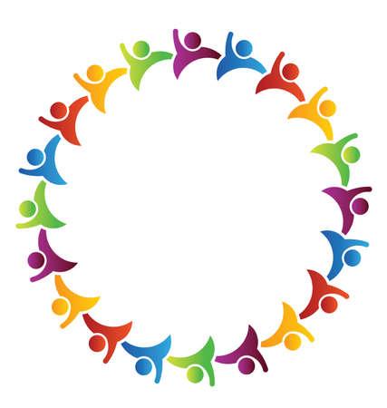 solidaridad: Grupo de personas Vectores