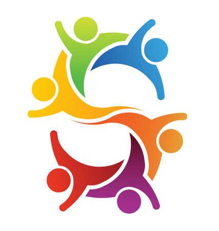 Teamwork Buchstaben S Vektorgrafik