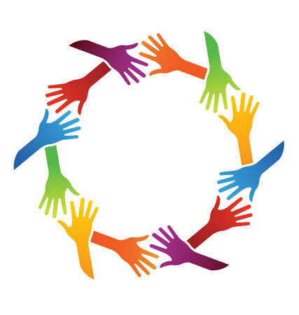 manos logo: Equipo apretón de manos