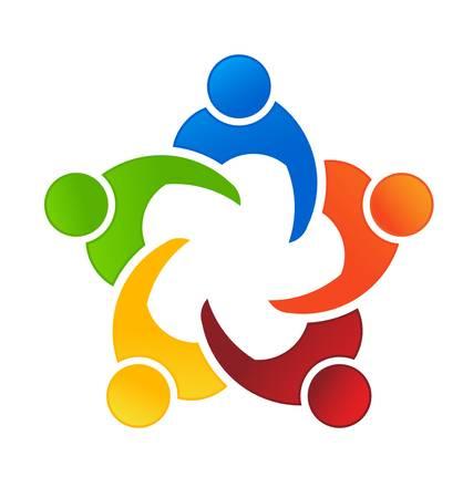 community people: Incontro di lavoro 5 Vettoriali