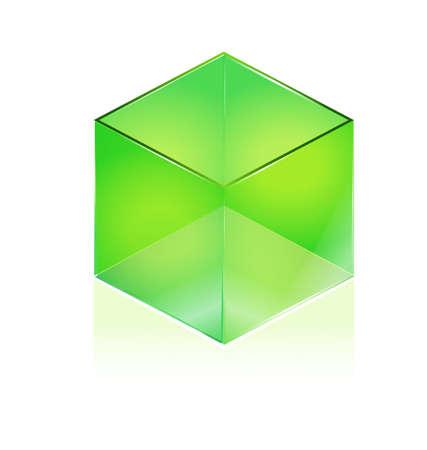 Glazen kubus Stock Illustratie