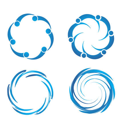 Swirl swooshes Stock Vector - 18162201