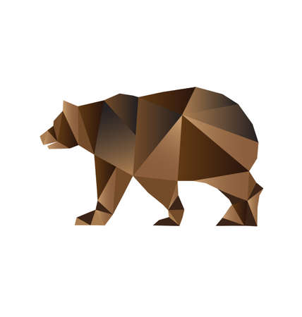 grizzly: Triangles de style Ours Illustration