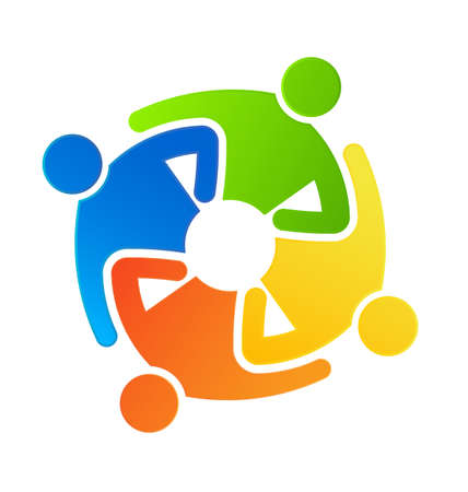 Teamwork together Stock Vector - 18222778