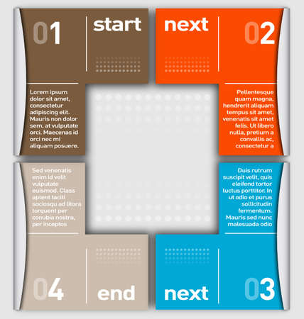 Business Infographic numbered by colors Vector