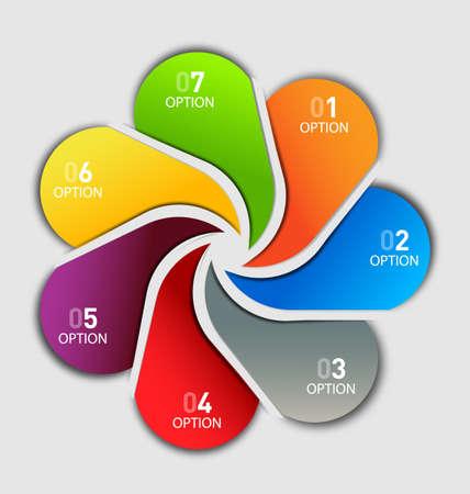 website: Business template - seven tags option Illustration