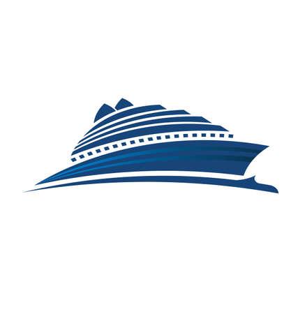 ship icon: Nave sul mare Vettoriali