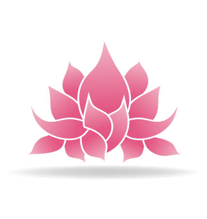 simbolo paz: Flor de loto Vectores