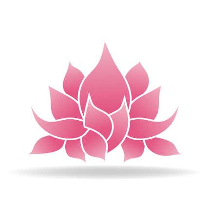 peace symbol: Lotus flower Illustration