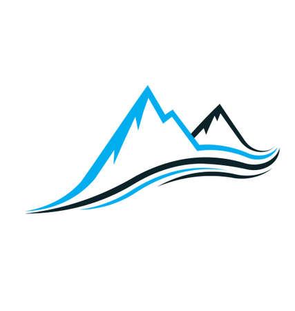 leque: Montanha swoosh Ilustra��o
