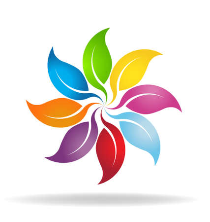 big wheel: Color leaves wheel Illustration