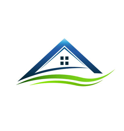 Huis groene teken swoosh