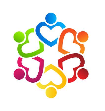 apoyo social: Equipo Corazón 6 Vectores