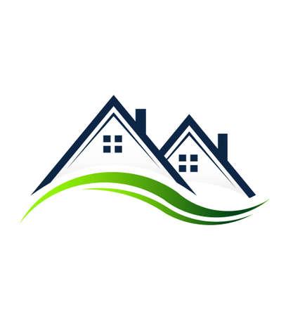 real estate sold: Casas Bienes Raices Vectores