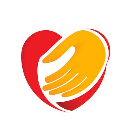 corazon en la mano: Hand holding coraz�n