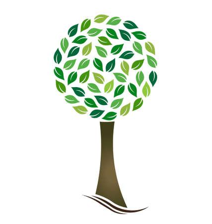 stylized design: Albero con foglie cerchiati