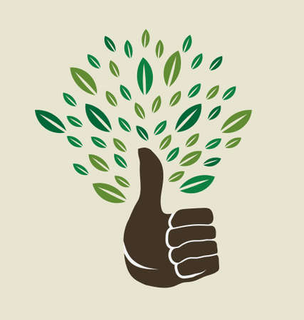Thumb tree Vector