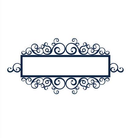 label frame: Vintage frame scroll