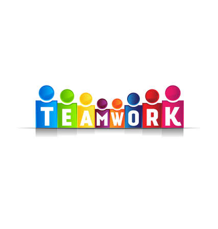 teamwork together: Teamwork concept word