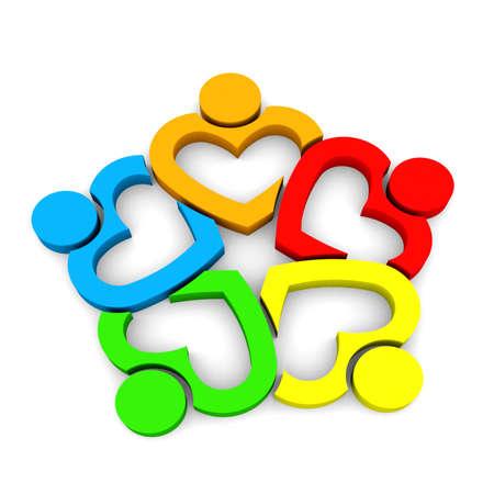 solidaridad: Equipo del corazón 5 - fondo blanco 3D