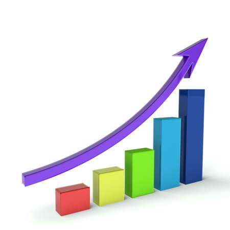 Business Bar graph multicolor
