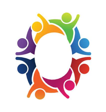 diversidad: Trabajo en equipo de la letra O del alfabeto