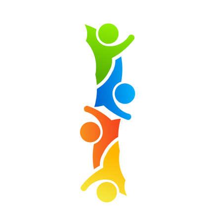 diversidad: Alphabet Letter I Trabajo en equipo Vectores