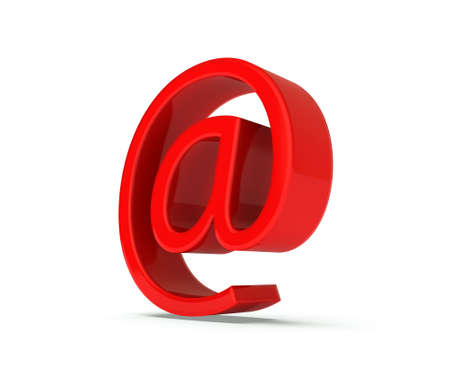 Red  at  symbol  3d image Stock Photo - 20043271
