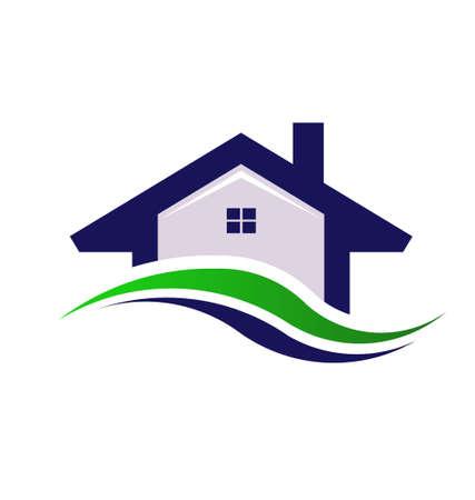 condominium: House Estate  logo design element Illustration