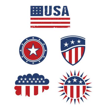 미국 스타 플래그 디자인 요소 벡터