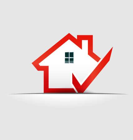 House  check  design element Vettoriali