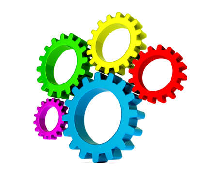 3D colorful gears Stock Photo - 20270099