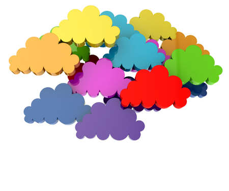 wheather forecast: Colorful group of clouds