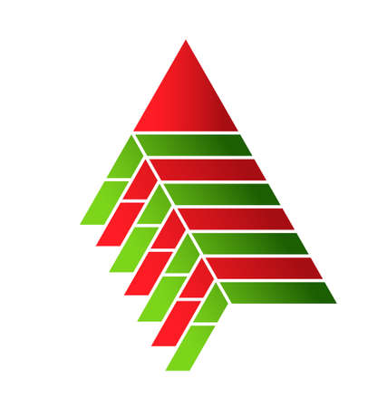 Pyramid food assembly vector design