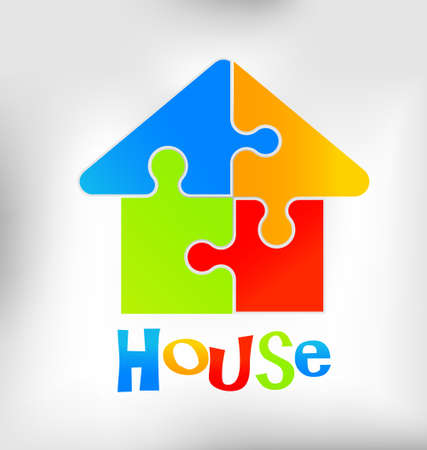 Puzzle house Stock Vector - 20867272