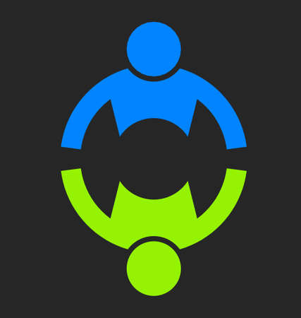 会社チーム アイコンをデザイン要素